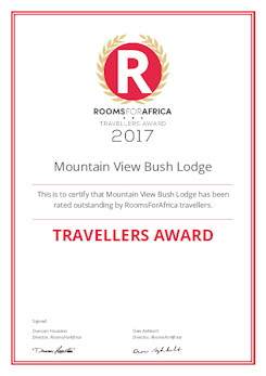 RoomsForAfrica Travellers Award for 2017